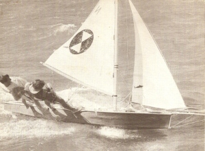 'Trudy-Ann' skippered by Gary Bruniges at the VJ Australian Championships Glenelg SA 1967-68